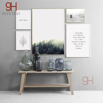 Nordic Landscape Canvas Art Print Painting Poster, Wall Pictures For Home Decoration, Wall Decor NOR13