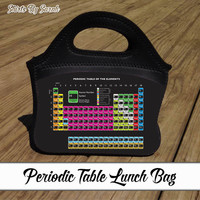 Periodic Table Lunch Bag - Science Lunch Tote Zippered Top Geekery Bag Zip Top Lunch Box Geek