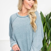 Dusty Sage Mineral Wash Top