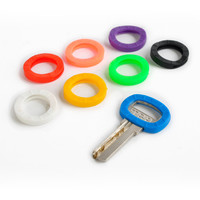 8pcs Hollow Multi Color Rubber Soft Key Locks Keys Cap Key Covers Topper Keyring