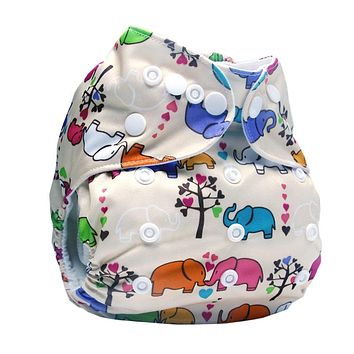 Bear Leader 2017 Baby Cloth Diaper Reusable Pocket Nappies Washable Modern Cloth Nappy Diaper Cover Suit 0-2Years Without Insert