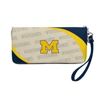 Michigan Wolverines Wallet Curve Organizer Style