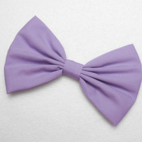 Hair Bow Clip Lilac Light Purple girls women hair accessories gifts for her new