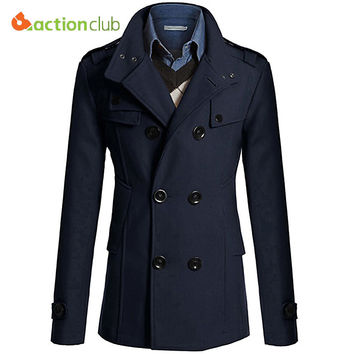 Hot Sale Men Windbreaker Mens Trench Coat Men Coat Casual Jacket Brand Clothing Men's Jackets Plus Size