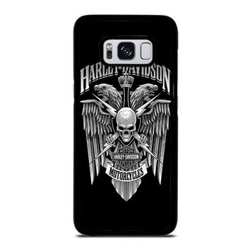 HARLEY DAVIDSON SKULL EAGLE Samsung Galaxy S3 S4 S5 S6 S7 Edge S8 Plus, Note 3 4 5 8 Case Cover