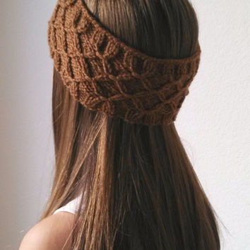 The Frida Headwrap - Knit Turban Headband - TOFFEE - (more colors available)