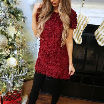 Christmas Party Dress: Burgundy