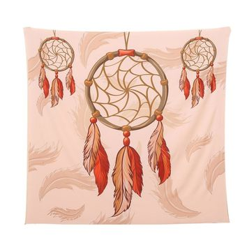 Square Indian/Bohemian Hippie Tapestry (Red/Pink)