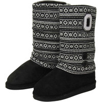 Ohio State Buckeyes Ladies Retro Boots - Black/White