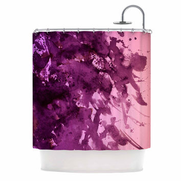 "Ebi Emporium ""Splash Out Purple Pink"" Lavender Blush Shower Curtain"