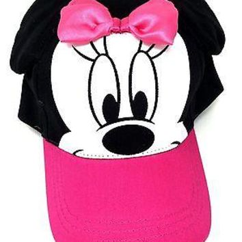 Baseball Cap Hat For Girls Disney Minnie Mouse Soft Ear Lady PINK