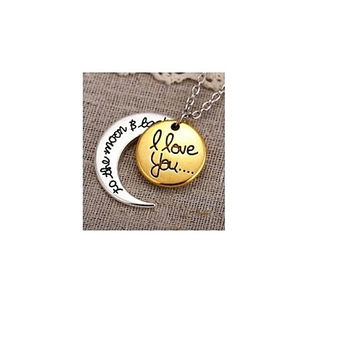 Golden To The Moon Necklace
