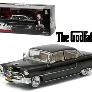 The Godfather 1955 Cadillac Fleetwood Series 60 Special Black (1972) Movie 1-43 Diecast Model Car  by Greenlight