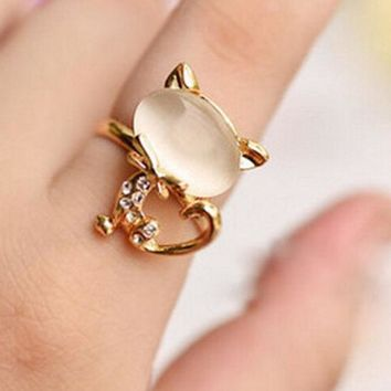 PEAPON Cute little cat ring
