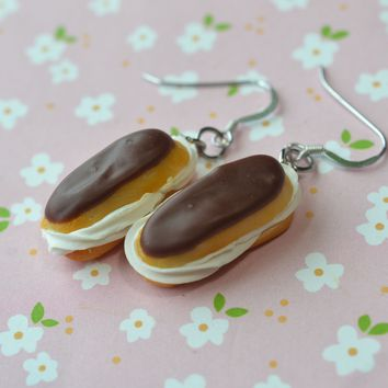 Chocolate Eclair Hook Earrings