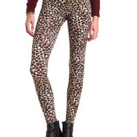 Leopard Print Legging by Charlotte Russe - Brown Combo