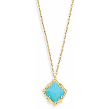 Kendra Scott: Kacey Long Pendant Necklace In Turquoise
