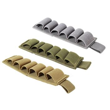 4 ColorTactical Hook Loop 6 Rounds Shotgun Shell Holder Shotshell Insert Card Strip with Adhesive Back for 12 Gauge Choose