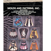 Vintage Stained Glass Lamps Patterns for 8 Desk/Ceiling Fan Lamp Designs by Molds and Patterns, Inc. Series 2 Stained Glass Supplies