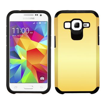 Samsung Galaxy Core Prime Prevail LTE / G360 TPU Slim Rugged Hard Case Cover Gold