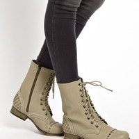 New Look Besto Studded Lace Up Boots