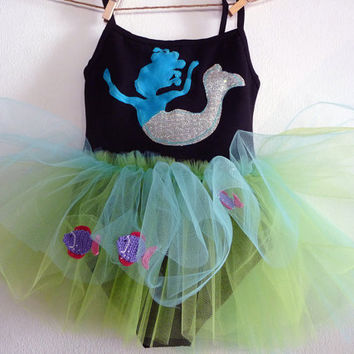 MERMAID LEOTARD TUTU Blue Mermaid Lady of the sea by WhimsyRanch