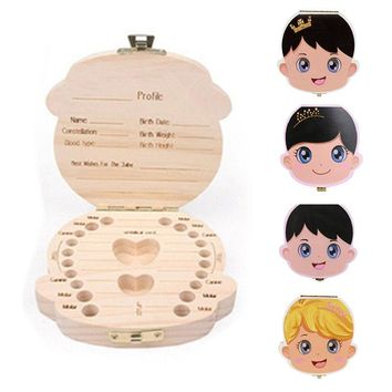 Wooden Toothfairy Baby Box