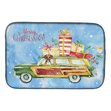 Merry Christmas Boxer Dish Drying Mat CK2399DDM