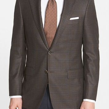 Hickey Freeman 'Traveler' Classic Fit Plaid Wool Sport Coat,