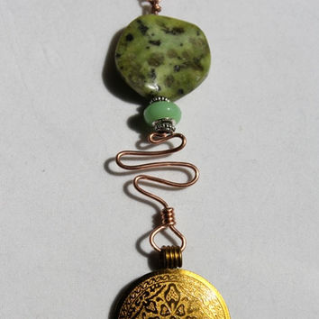 Asian Inspired Stone and Bead Necklace
