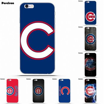 For iPhone 6 6S 7 8 Plus X Galaxy S5 S6 S7 S8 TPU Covers Cases Chicago Cubs Mlb Baseball