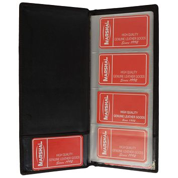 Genuine Leather Large Business Card Holder Book Organizer Office Executives 4570 CF (C)