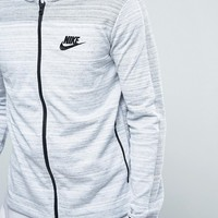 Nike Advanced Knit 15 Jersey Bomber Jacket In White 837008-100 at asos.com