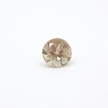 Dusky Champagne Oregon Sunstone Gem - Loose Cut Gemstone Oregon Sunstone - Round Cut Large Oregon Sunstone Gemstone