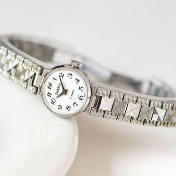 Watch bracelet for women Seagull small womans watch minimalist silver shade cocktail watch - classical wristwatch – unique lady watch gift