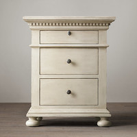 "St. James 24"" Closed Nightstand Antiqued White"