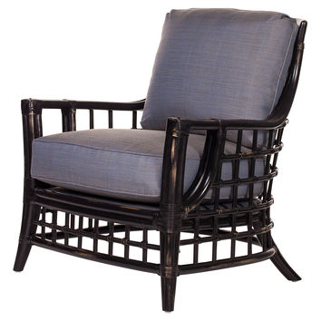 Somerset Lounge Chair, Distressed black, Accent & Occasional Chairs