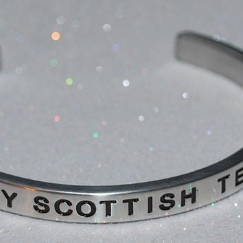 I Love My Scottish Terrier   |  Engraved Handmade Bracelet by: Say It and Wear It Jewelry