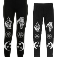 Severed Hands - Leggings | Black Craft
