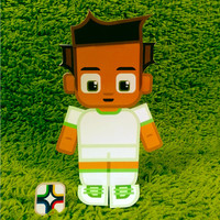 Algeria football soccer craft activity. Printable paper toy. Instant download. Make you own cards, banners and football soccer bunting!