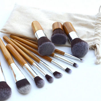 Makeup brushes 11 style cosmetics blending blush powder foundation contour eyebrow eyeliner kabuki make up brush gift