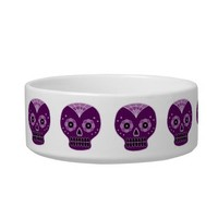 Sugar Skulls Bowl Cat Bowls from Zazzle.com