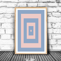 Rose Quartz, Serenity, Color of the year,2016 Wall art printable, Living room Home Decor, Colors wall art decor, Color print, Printable art,