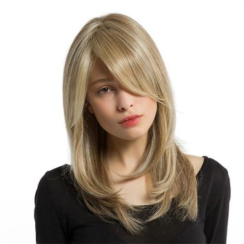 Women Wig LESS Lace Front Sexy Long Blond Hair Women's Wigs Hair Full Wig Natural Curly Wavy Synthetic Cosplay Party Wigs Lot