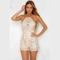 Golden Embroidery Playsuit