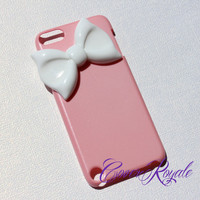 iPod 5 Pink Bow Case by CoverRoyale on Etsy