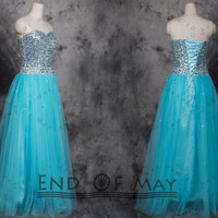 Tulle Sequins Women's Long Bridesmaid Prom Dresses,Long bridesmaid dress,bridesmaid dresses