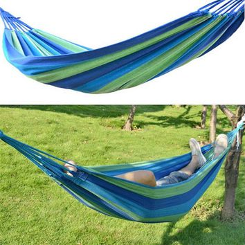OUTAD Portable Canvas/Nylon Outdoor Hammock Swing Garden Camping Hanging Sleeping Hammock Canvas Bed With Same Color Scheme Sack