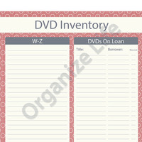 DVD Inventory List - Printable PDF