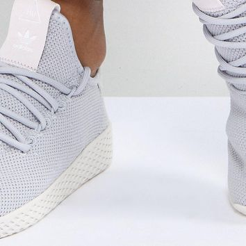 adidas Originals Pharrell Williams Tennis Hu Sneakers In Gray at asos.com